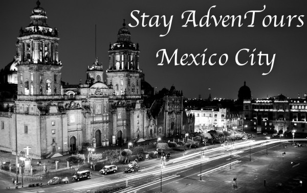 the zocalo at night in mexico city on stay adventours