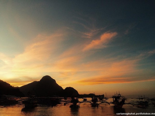 el nido sunset in palawan Philippines