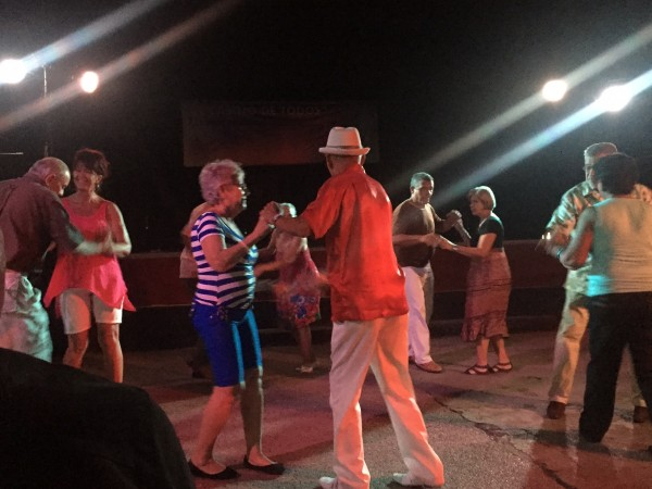 Salas Dancing in Cuba with founders of Casino Salsa
