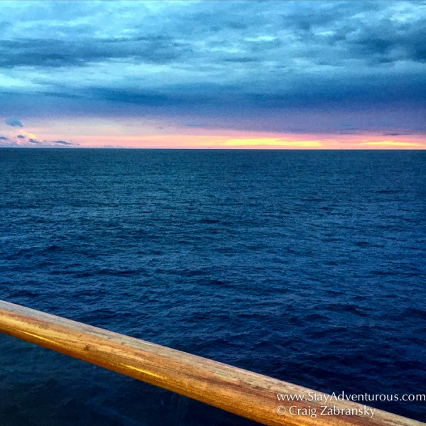 sunset on board the Viking Star near Puerto Rico in the Atlantic Ocran