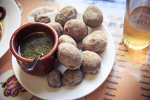 papas arrugadas from tenerfie in the canary islands