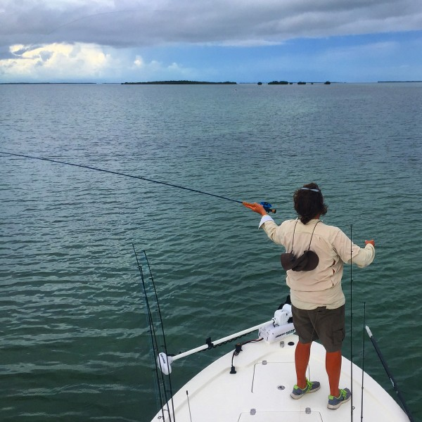 fly fishing in the backcountry flats of Islamorada in the Florida Keys