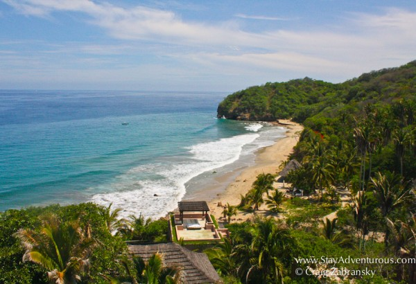 the view from Imanta Resort in Punta Mita, Nayarit on the Riviera Nayarit in Mexico
