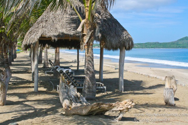 The beach at La Tranquila Resort n Punta Mita, Nayarit on the Riviera Nayarit in Mexico