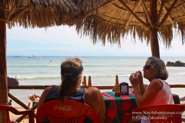 the palapas in Punta Mita, Nayarit on the Riviera Nayarit in Mexico