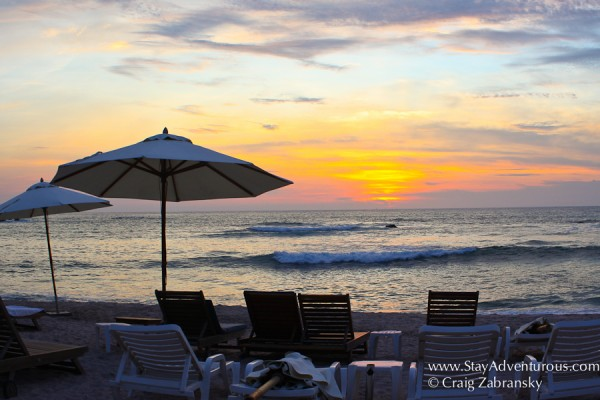 the residence's beach club in resorts at punta de mita in Punta Mita, Nayarit on the Riviera Nayarit in Mexico