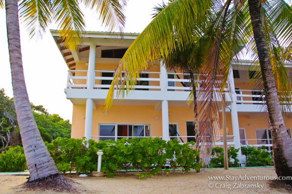 Oceanfront rooms and suites at the Laru Beya Resort, Placencia, Belize