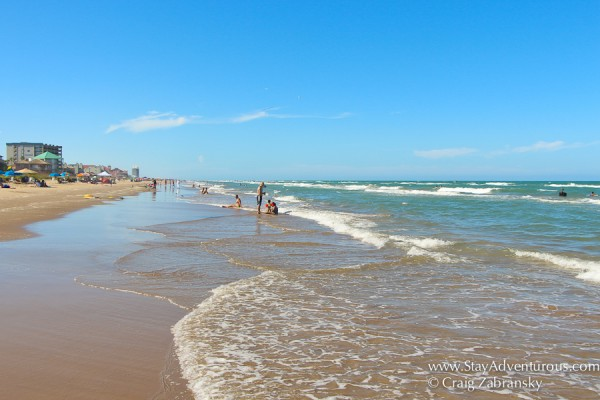 strolling the sands of the beach in South Padre Island, Texas