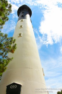 the historic lighthouse visitors can climb at hunting state park near beaufort, south carolina