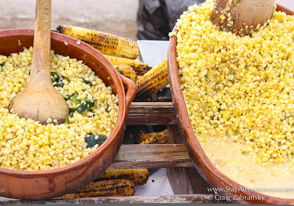 corn or maiz available as a street food in viejo vallarta