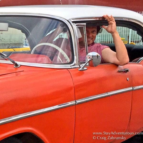 a classic car in santiago de cuba