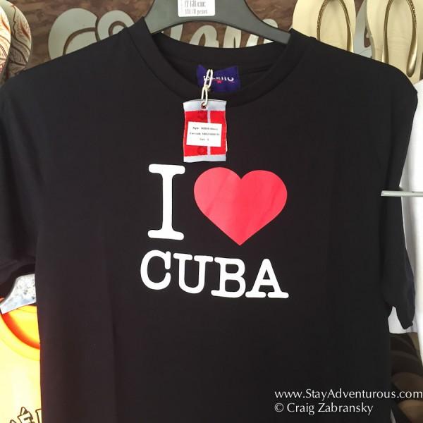 the famous I Love Cuba TShirt in Santiago de Cuba