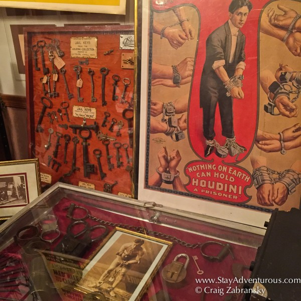 Houdini Memorbilla at the Houdini Museum in Scranton, PA