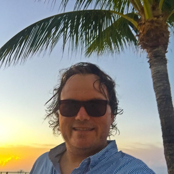 selfie at sunset in Islamorada, Florida Keys