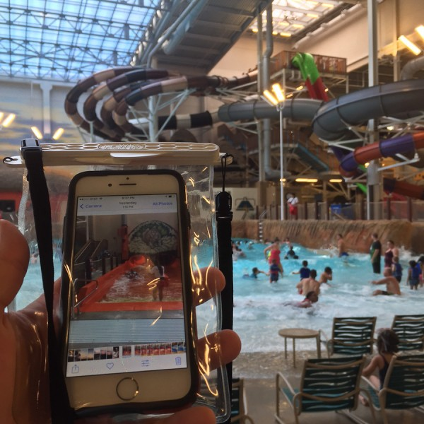 Waterproof pouch at Kalahari Water Park