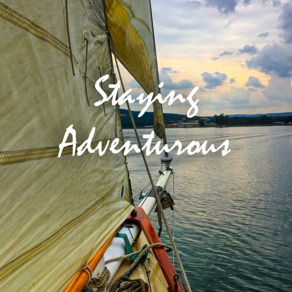sailing on the 1926 Schnooer True Love in Seneca Lake of the Finger Lakes in New York