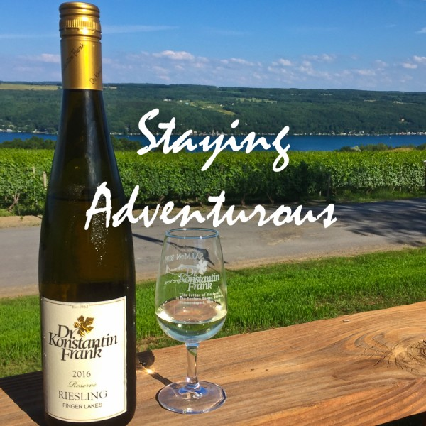 Bottle of Riesling from Dr Konstantin Frank's Winery in the Finger Lakes of New York
