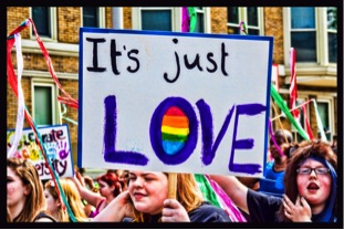 Love and the LGTB parade in Australia
