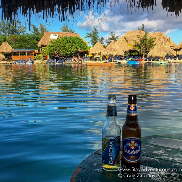 Sample the local beer in Honduras on Big French Key