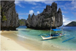 typical beach image from the Philippines