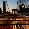 Sunset Sunday – Walking the Brooklyn Bridge, New York