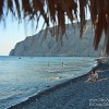 Kamari Beach and the Black Sands of Santorini