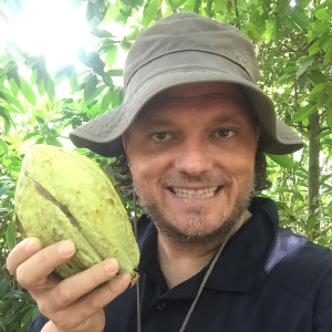 picking up some Cacao Fruit in Tabascao outside of Villahermosa