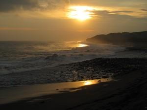 the sea and surf of Rio Nexpa Mexico