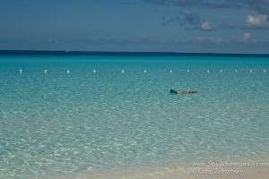 floating in the perfect water at half moon cay