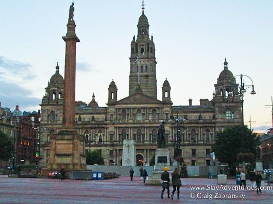 George's Square in Glasgow, Scotland