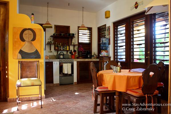 the first floor kitchen of bunaglow #2 at Casa de Corazon in Soliman Bay,, Riviera Maya, Tulum