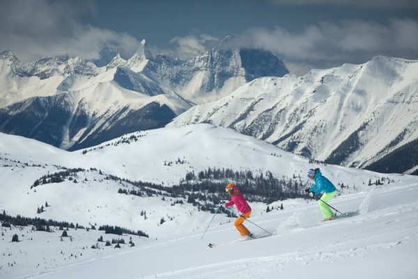 One of the SkiBig3 Ski Slopes in Banff, Alberta in Canada