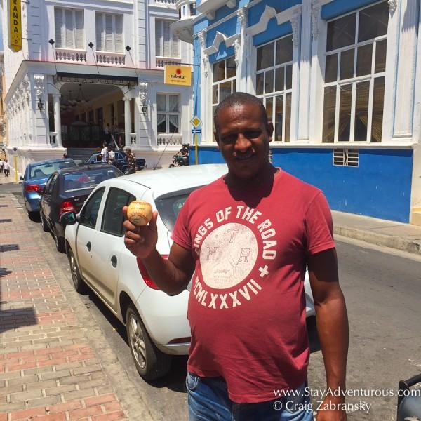 Leo my tour guide in Santiago de Cuba