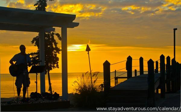 sunset at marker 88 in inslamorada, Florida Keys