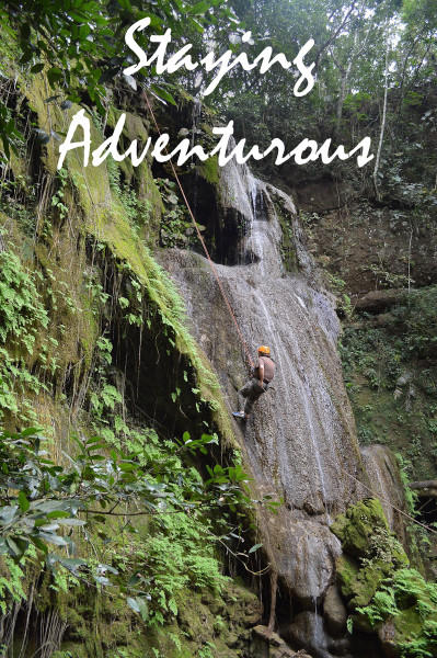 Rappel down the waterfall at Tzimbac Adventure Park