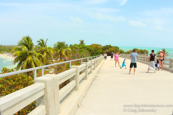 walking on the old road and old railroad inside bahia honda state park florida keys