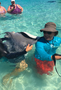 stingray city back massage, grand cayman