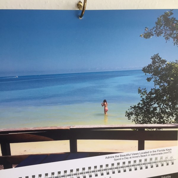 Florida Keys 2018 Calendar, April from Anne's Beach