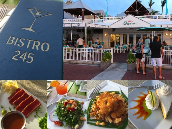truffle crusted grouper, key lime pie, sunset cocktail, seared tuna at the bistro 245 located inside Margaritaville Key West Resort