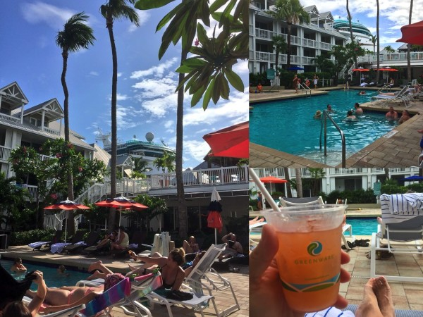 the pool scene at margaritaville key west, florida keys