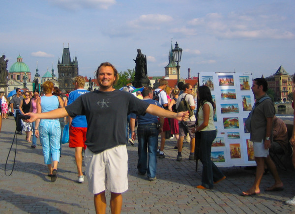 Craig Zabransky Staying Adventurous on Charles Bridge Prague, Czech Republic