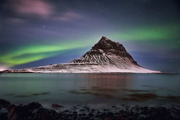 Iceland at Northern Lights