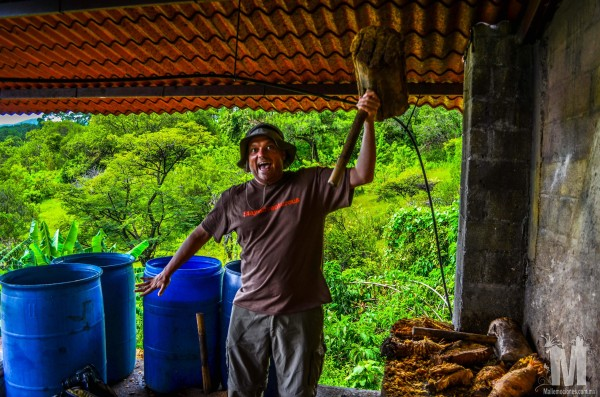 Craig with a mezcal hammer in malinalco mexico
