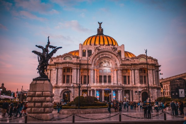 Belle Artes in the heart of Mexico City, mexico