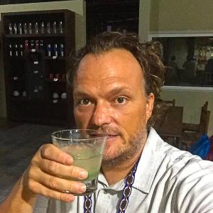 Drinking a homemade Mexican Mojito at Ron Classico in Colima, Mexico