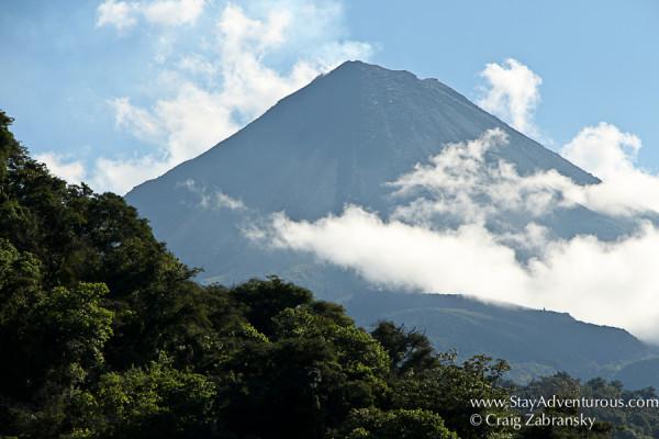 the Volcano de Colima, Vulcan de Colima in Colima Mexico
