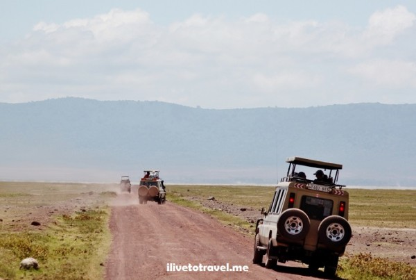 Road to Ngrorongoro Crater in Tanzania, Africa