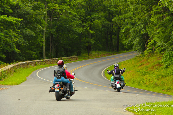 skyline drive shenandoah national park - motorcycle ride