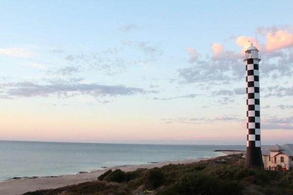 bunbury lighthouse at sunset in western australia