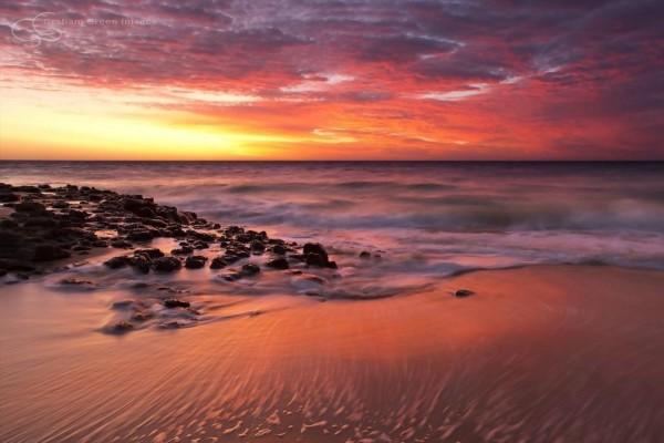 bunvbury sunset in western australia